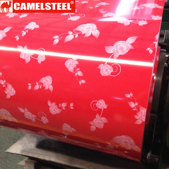 Flower Pattern PPGI Prepainted galvanized steel coil-flowers design