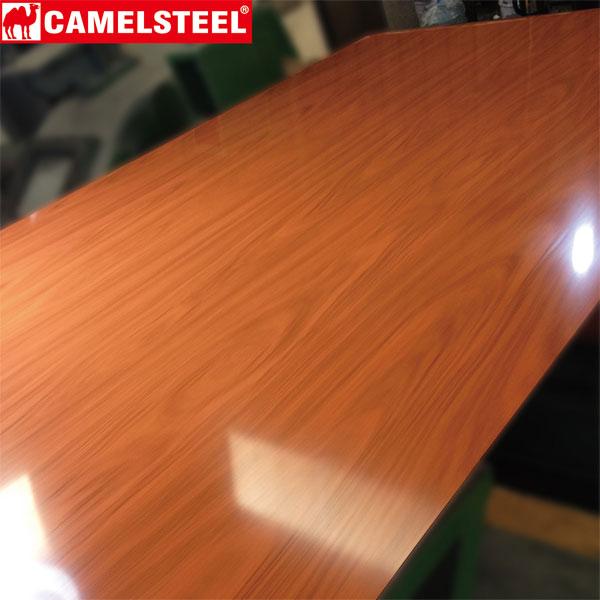 wood grain pattern ppgi