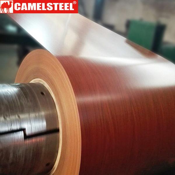 Prepainted galvalume steel coil-wooden design-prepainted steel coil