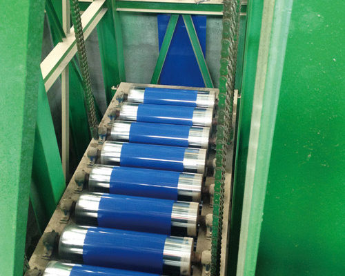 color coated steel unit, color coated production line