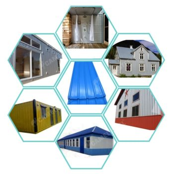 color coated steel house, colour steel roofing